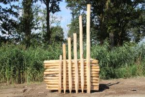 Houtzagerij Salland, Franse kastanjehouten Palen, 6 maten